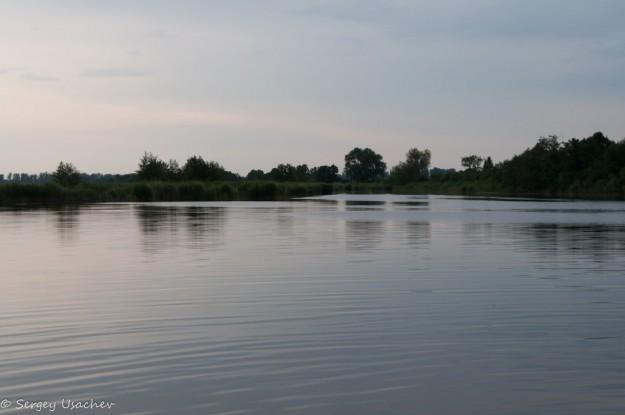 Вечером на озере Кажат