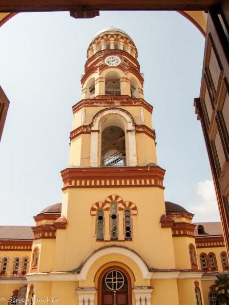 Новоафонский мужской монастырь вид на часовню