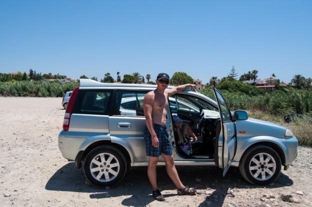 Парковка на пляже Coral Bay