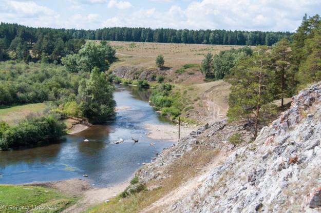 Вид на реку Белую с Арского камня