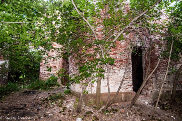 Второй корпус завода в лесу