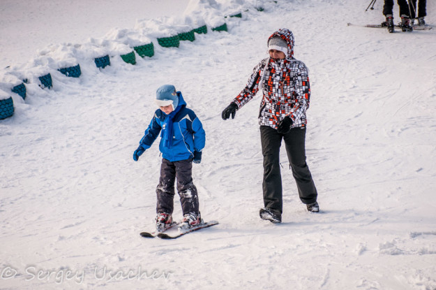 Первый раз на горных лыжах