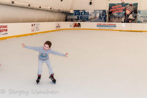 Каток с искусственным льдом в Санатории «Красноусольск»