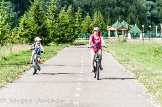 Велопрогулки по территории санатория