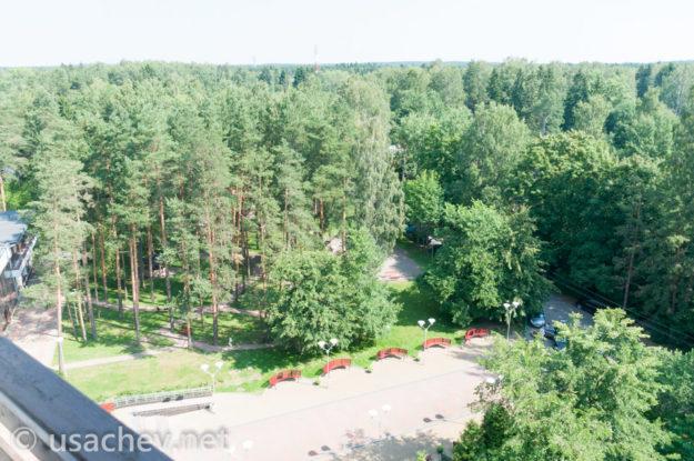 Вид из номера 1010 санаторий Балтийский берег