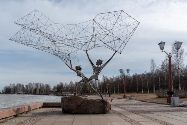 Скульптура «Рыбаки» (г. Петрозаводск)