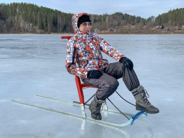 На финских санях по льду