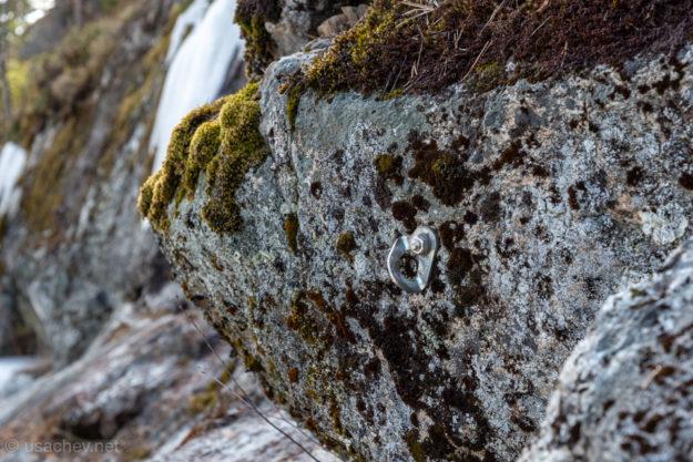 Змеиная гора очень популярна у скалолазов