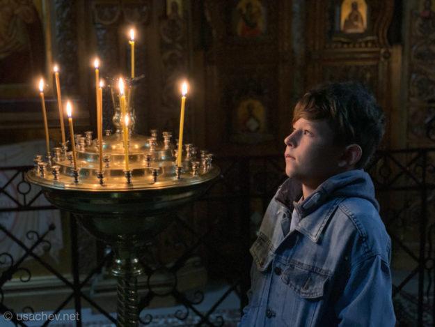 В Соборе Успения Святогорского монастыря
