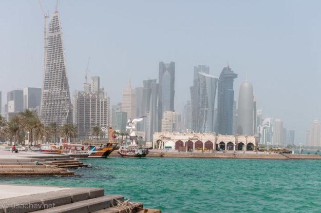 Вид на бизнес центр Дохи