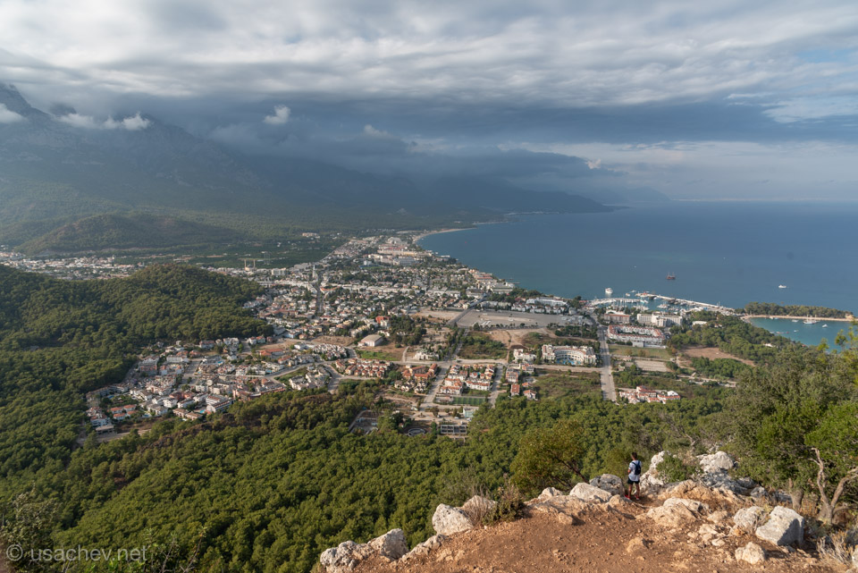 Вид на Кемер с горы Чалыш