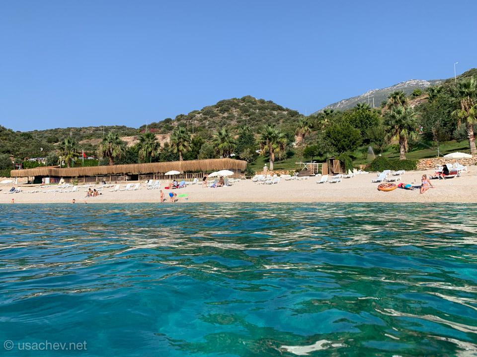 Муниципальный пляж города Каш (Kaş Belediyesi Halk Plajı)