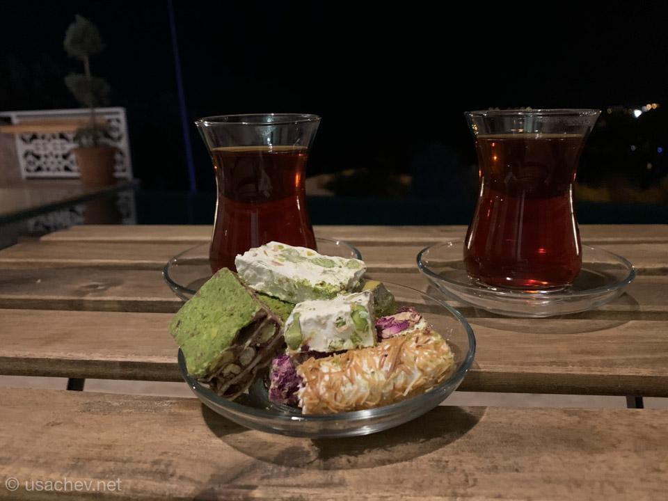 Вечер с турецкими сладостями
